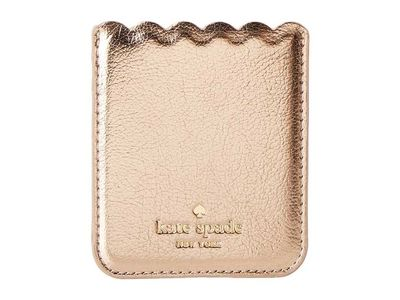 Kate Spade New York - Kate Spade New York Soft Rose Gold Metallic Scallop Sticker Pocket Coin Card Case