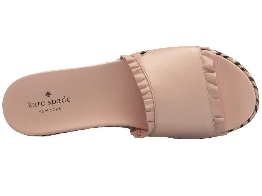Kate Spade New York Women Ballet Pink Nappa Zahara Heeled Sandals