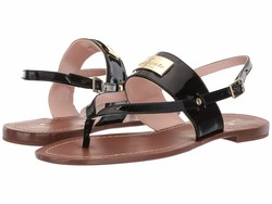 Kate Spade New York Women Black Cassandra Flat Sandals - Thumbnail
