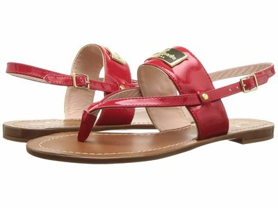Kate Spade New York - Kate Spade New York Women Red Cassandra Flat Sandals