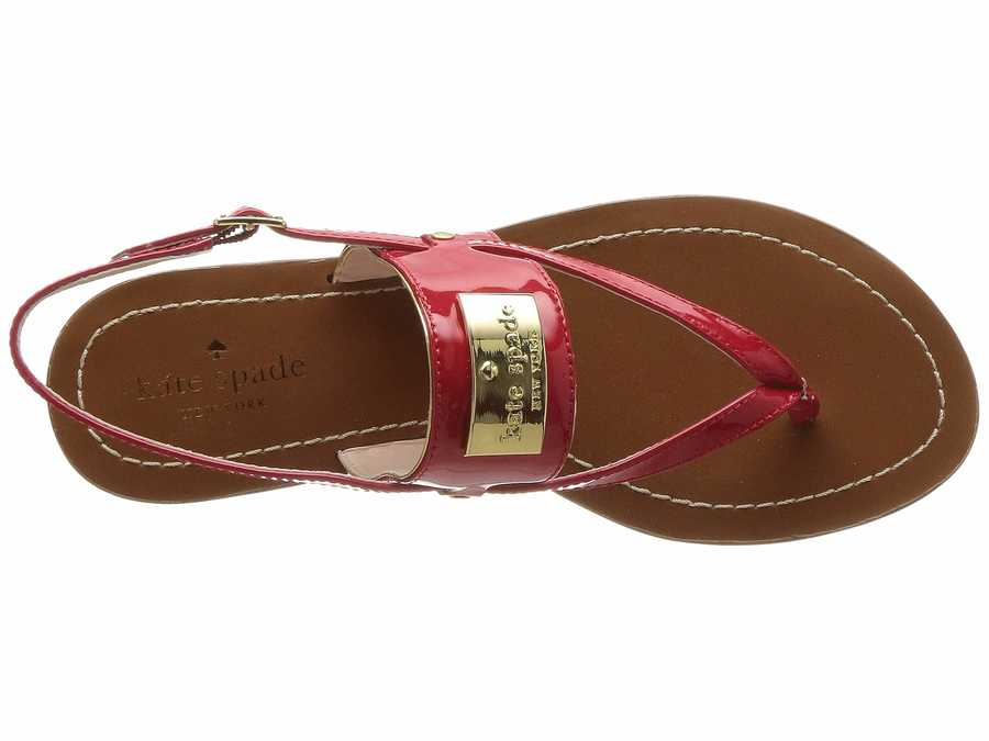 Kate Spade New York Women Red Cassandra Flat Sandals