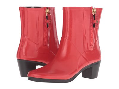 Kate Spade New York - Kate Spade New York Women Red Shiny Rubber Penny Rain Boots