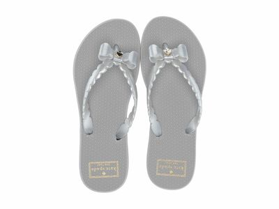 Kate Spade New York - Kate Spade New York Women Silver Denise Flip Flops