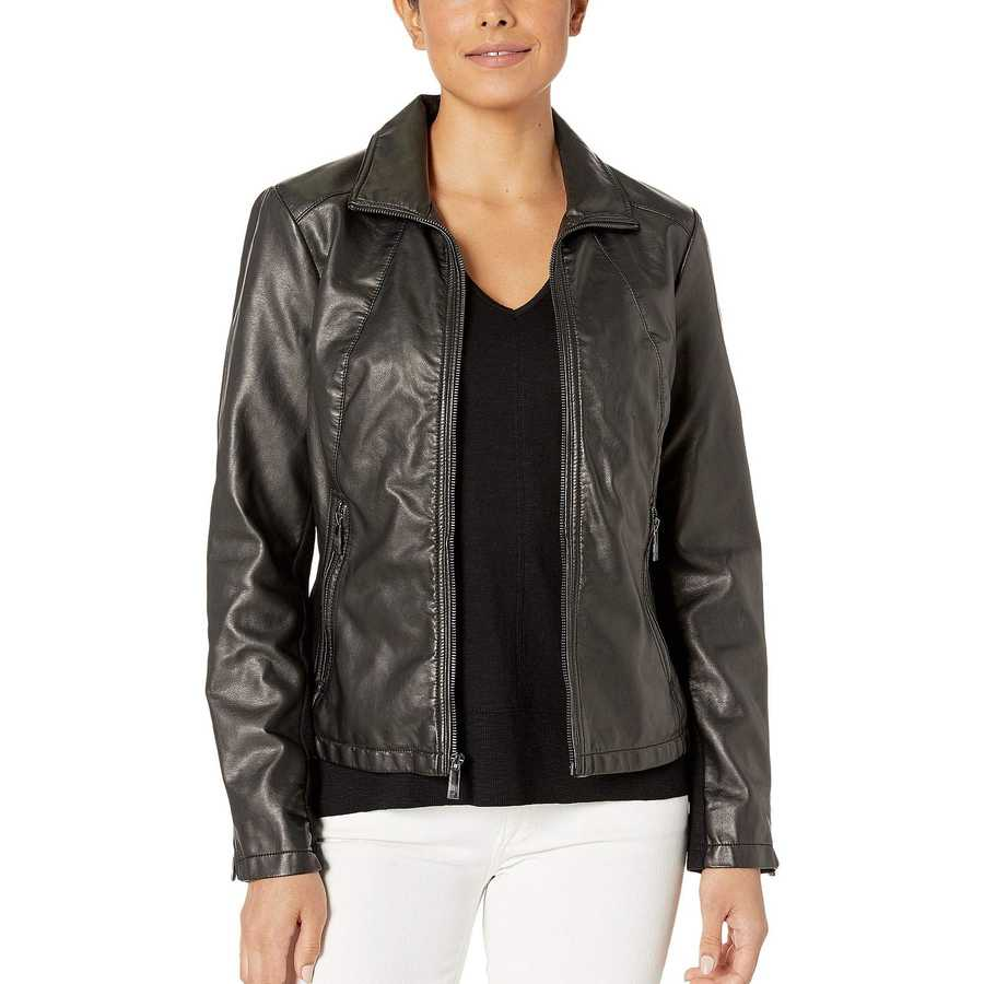 Kenneth Cole New York Black Zip Front Jacket