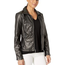 Kenneth Cole New York Black Zip Front Jacket - Thumbnail