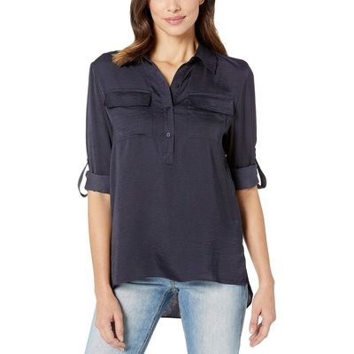 Kenneth Cole New York - Kenneth Cole New York Indigo Popover Button Front Tunic