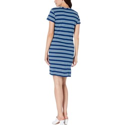 Kenneth Cole New York Rep Horizontal Stripe Ink Knotted Front Dress - Thumbnail