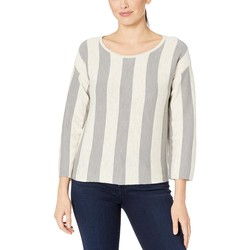 Kenneth Cole New York Seagull Oatmeal Stripe Trapeze Pullover - Thumbnail