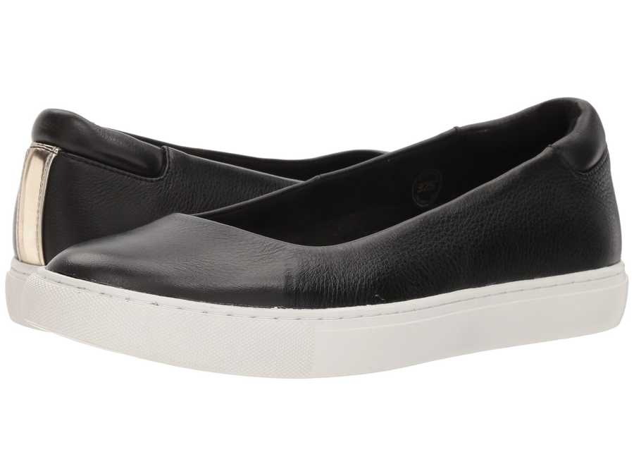 Kenneth Cole New York Women Black Leather Kassie Lifestyle Sneakers