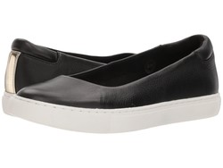 Kenneth Cole New York Women Black Leather Kassie Lifestyle Sneakers - Thumbnail