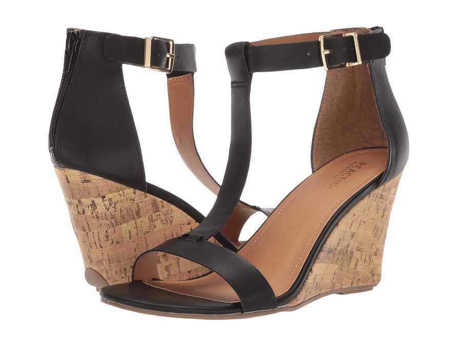 Kenneth Cole Reaction Women Black Ava Great Heeled Sandals