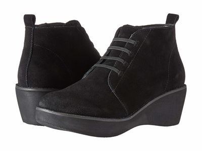 Kenneth Cole Reaction - Kenneth Cole Reaction Women Black Prime Lace-Up Bootie Lace Up Boots