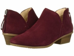 Kenneth Cole Reaction Women Burgundy Side Way Ankle Bootsbooties - Thumbnail