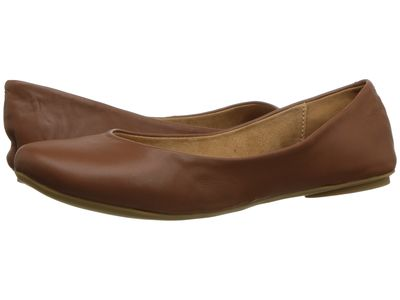 Kenneth Cole Reaction - Kenneth Cole Reaction Women Cognac Leather Slip On By Flats