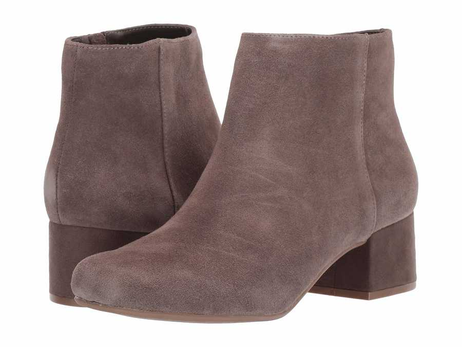 Kenneth Cole Reaction Women Dark Taupe Road Stop Ankle Bootsbooties