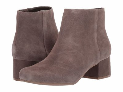 Kenneth Cole Reaction - Kenneth Cole Reaction Women Dark Taupe Road Stop Ankle Bootsbooties