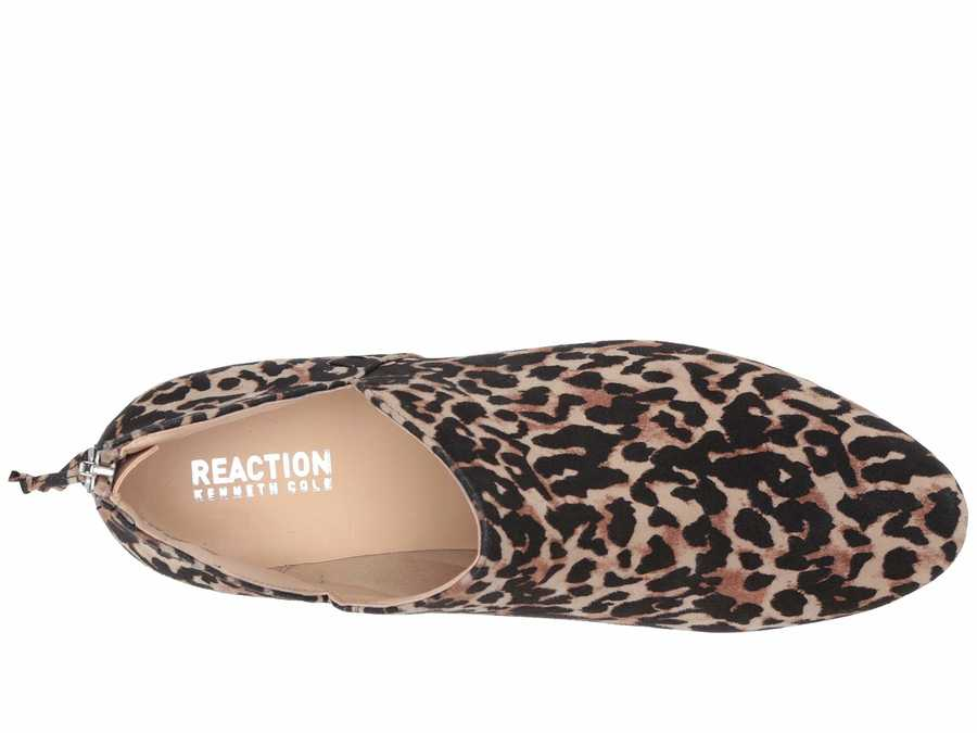 Kenneth Cole Reaction Women Leopard Micro Side Way Ankle Bootsbooties
