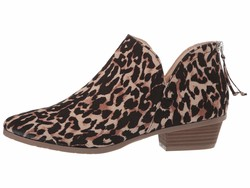 Kenneth Cole Reaction Women Leopard Micro Side Way Ankle Bootsbooties - Thumbnail