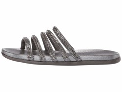 Kenneth Cole Reaction Women Pewter Slim Shimmer Flat Sandals - Thumbnail