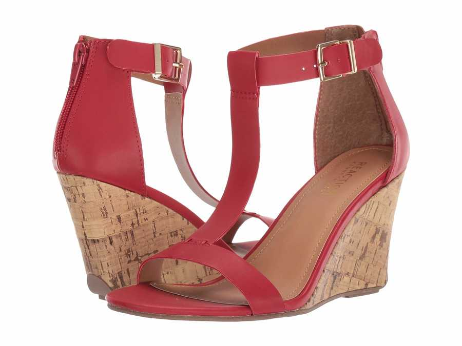 Kenneth Cole Reaction Women Red Ava Great Heeled Sandals