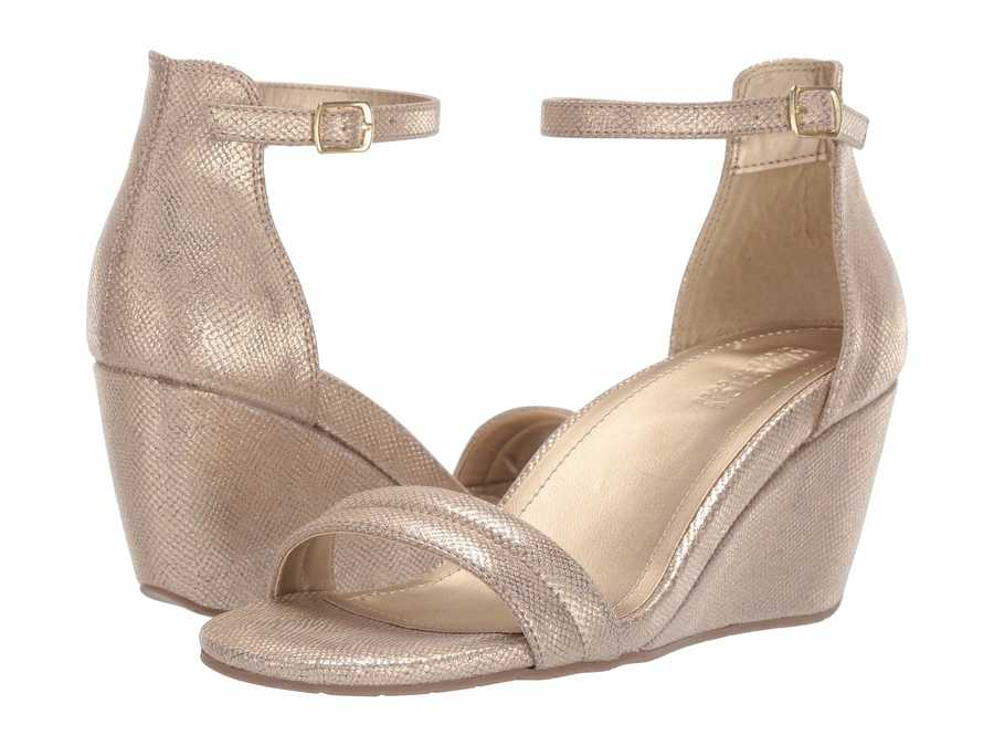 Kenneth Cole Reaction Women Soft Gold 7 Cake İcing Heeled Sandals