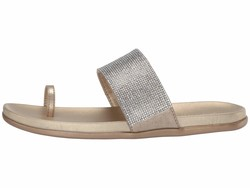 Kenneth Cole Reaction Women Soft Gold Synthetic Slim Tracks 2 Flat Sandals - Thumbnail