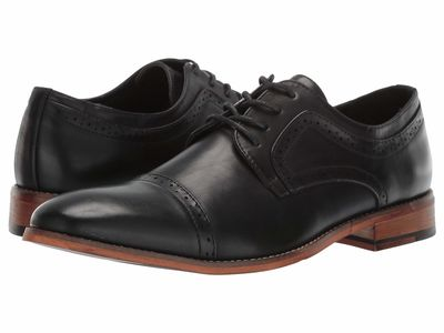 Kenneth Cole Unlisted - Kenneth Cole Unlisted Men Black Cheer Lace-Up Oxfords
