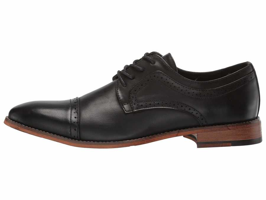 Kenneth Cole Unlisted Men Black Cheer Lace-Up Oxfords