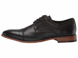 Kenneth Cole Unlisted Men Black Cheer Lace-Up Oxfords - Thumbnail
