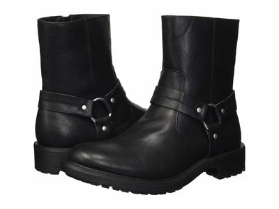 Kenneth Cole Unlisted - Kenneth Cole Unlisted Men Black Design 301954 Motorcycle Boots