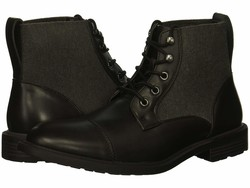 Kenneth Cole Unlisted Men Black Roll Boot B Lace Up Boots - Thumbnail