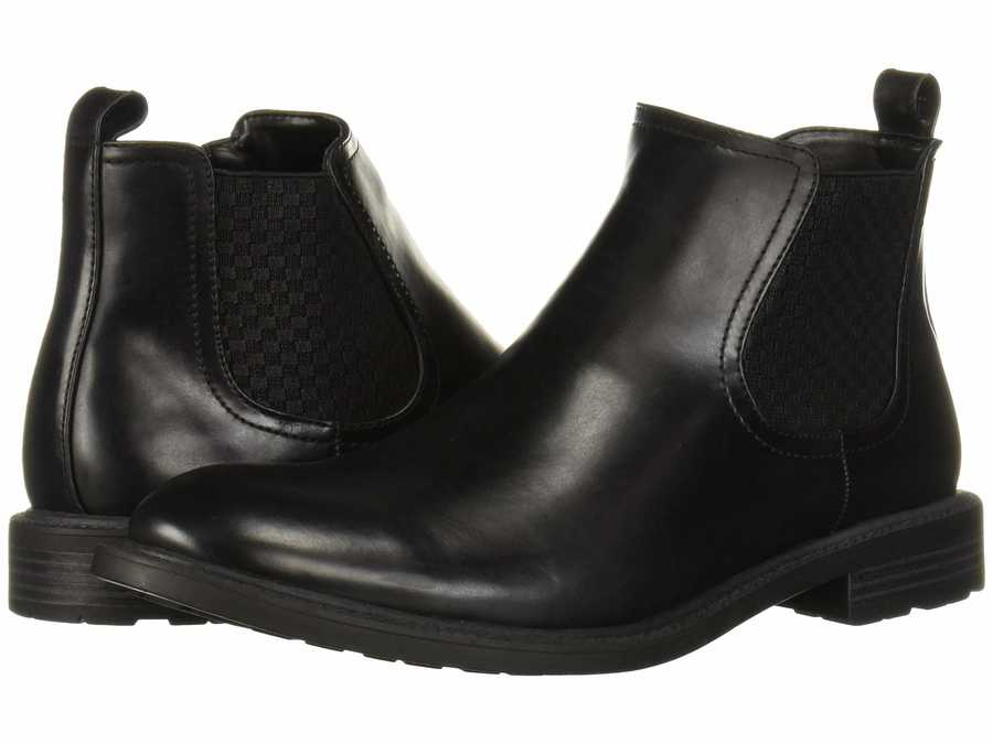 Kenneth Cole Unlisted Men Black Roll Chelsea Dress Boots
