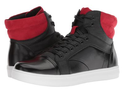 Kenneth Cole Unlisted - Kenneth Cole Unlisted Men Black/Red Drive Sneaker B Lifestyle Sneakers