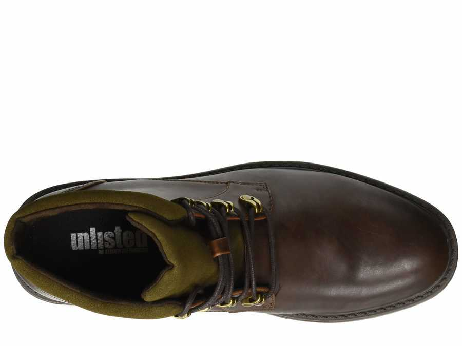 Kenneth Cole Unlisted Men Brown Bainx Boot Lace Up Boots
