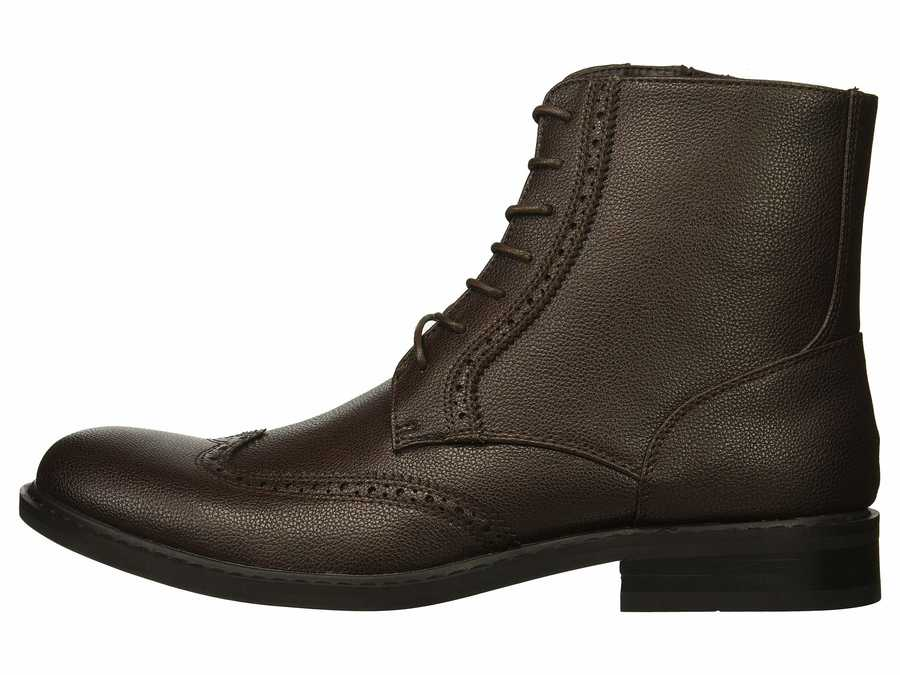 Kenneth Cole Unlisted Men Brown Buzzer Boot Lace Up Boots