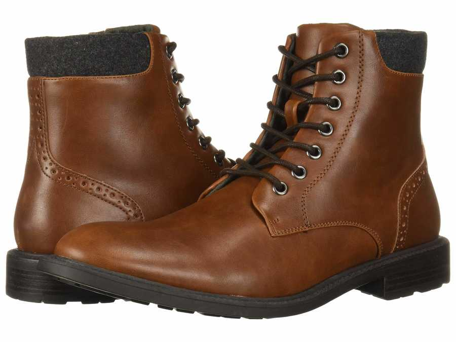 Kenneth Cole Unlisted Men Brown Roll Boot D Lace Up Boots