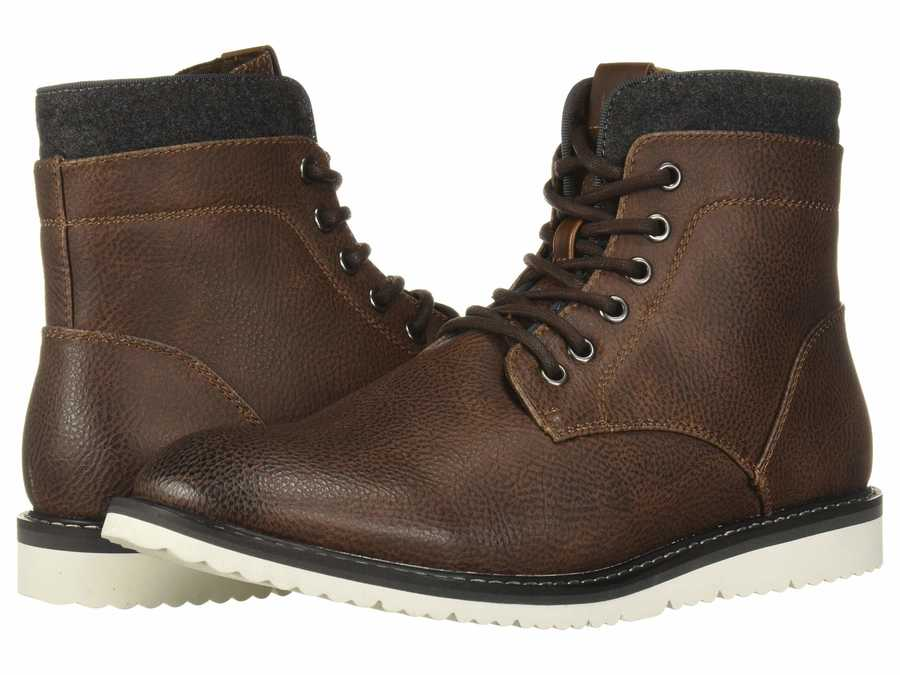 Kenneth Cole Unlisted Men Brown Russel 2.0 Lace Up Boots