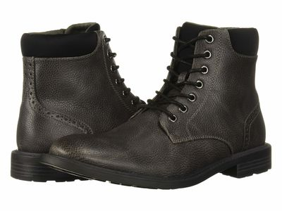 Kenneth Cole Unlisted - Kenneth Cole Unlisted Men Charcoal Roll Boot D Lace Up Boots