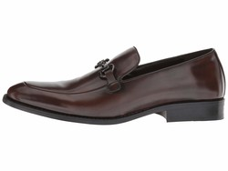 Kenneth Cole Unlisted Men Dark Cognac Half Time Call Loafers - Thumbnail