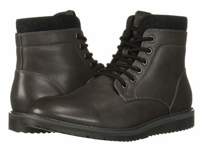 Kenneth Cole Unlisted - Kenneth Cole Unlisted Men Dark Grey Russel 2.0 Lace Up Boots