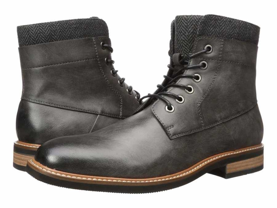 Kenneth Cole Unlisted Men Grey Jimmie Boot B Lace Up Boots