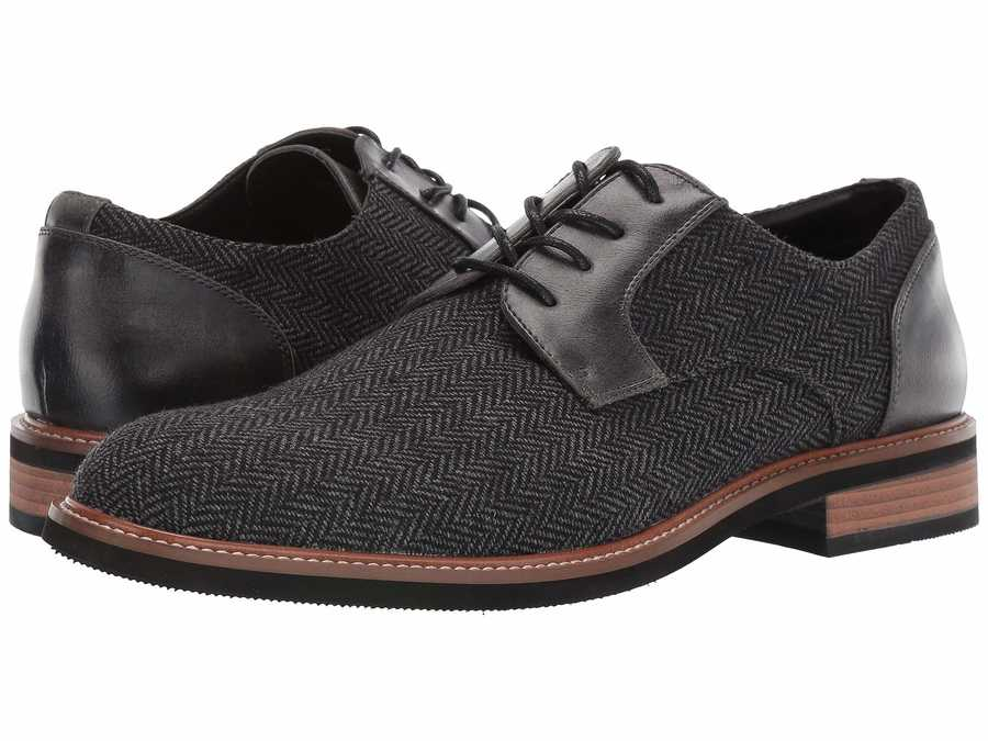 Kenneth Cole Unlisted Men Grey Jimmie Lace-Up B Oxfords
