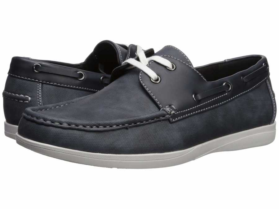 Kenneth Cole Unlisted Men Navy Comment-Ater Boat Shoes