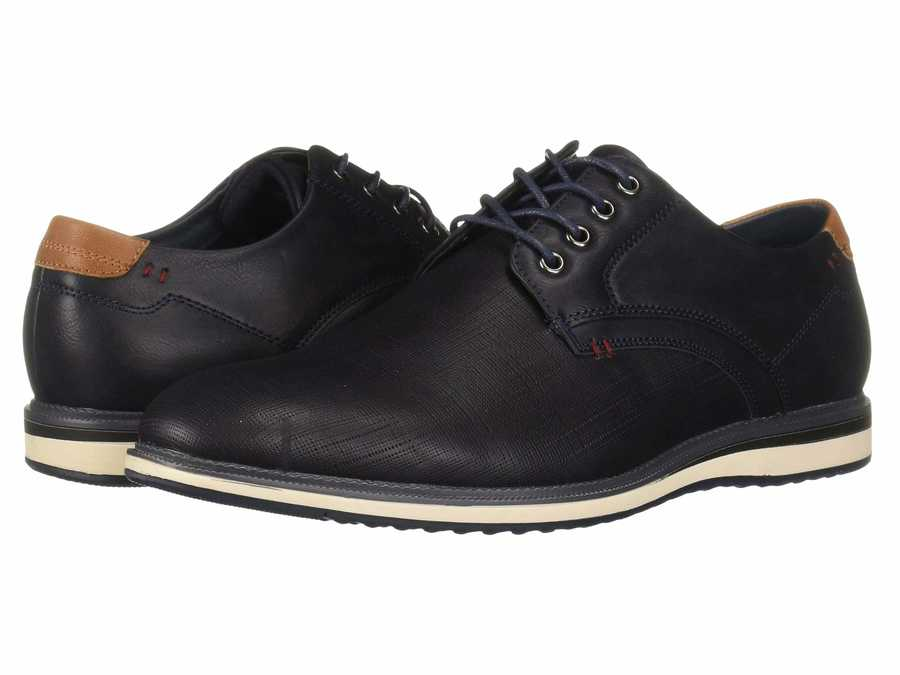 Kenneth Cole Unlisted Men Navy Gifford Lace-Up Oxfords