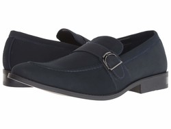 Kenneth Cole Unlisted Men Navy Half Time Show Loafers - Thumbnail