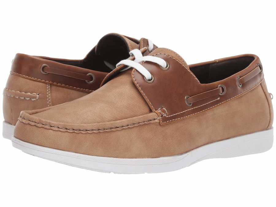 Kenneth Cole Unlisted Men Tan Comment-Ater Boat Shoes