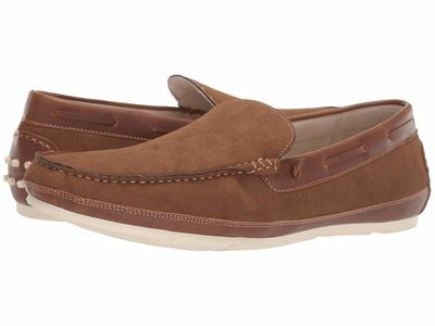 Kenneth Cole Unlisted - Kenneth Cole Unlisted Men Tobacco Regotta Slip-On Loafers