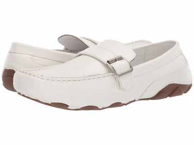 Kenneth Cole Unlisted Men White String Along Loafers