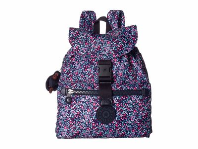 Kipling - Kipling Glistening Poppy Blue Keeper Print Backpack