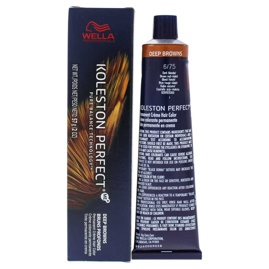 Koleston Perfect Permanent Creme Hair Color - 6 75 Dark Blonde-Brown Red-Violet 2oz